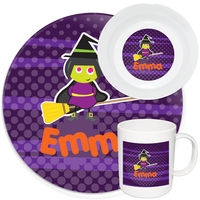 Broomstick Witch Melamine Set