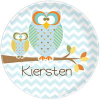 Autumn Owls Plate