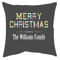Holiday Ribbon Accent Pillow