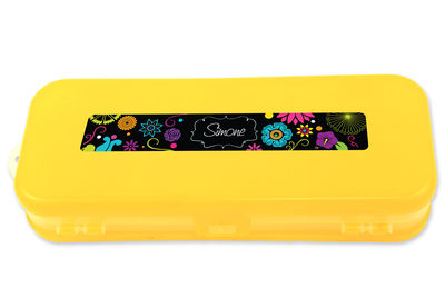 Bright Garden Double-Sided Pencil Case