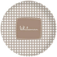 Cocoa Gingham Plate