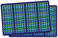 Name in Brights Boy Placemat