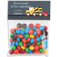 Construction Truck Valentines Candy Bag Toppers