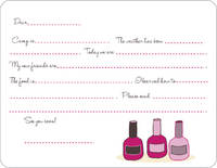 Nail Polish Camp Fill-in Card