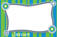 Bright Blue Frame Paper Placemats