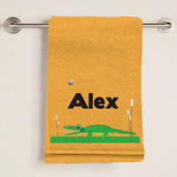 Alligator Chomp Bath Towel