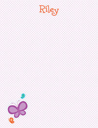 Butterflies Dotted Large Notepad