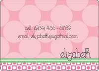 Blush Circles Calling Card