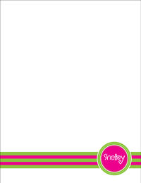 Fuchsia Green Large Notepad