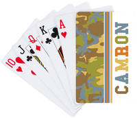 Camo Boy Playing Cards