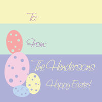 Pastel Blocks Easter Stickers
