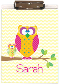Cute Owls Acrylic Clipboard