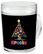 Bright Bulbs Tree Clear Acrylic Mug