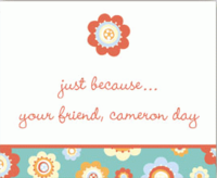 Turquoise Petal Pusher Calling Card 79299