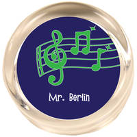Music Blue Paperweight PWR411