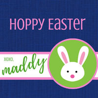 Cute Bunny Easter Stickers