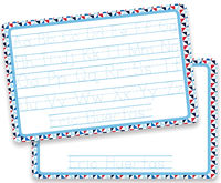 ABC Triangles Dry Erase Placemat