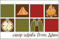 Camp Retro Icons Postcard