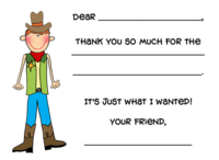 Custom Thank You Fill-in Flat Note Card  FCC-FI