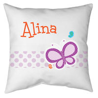 Dotted Butterfly Autograph Pillow