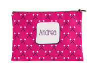 Girly Marshmallows Flat Accessory Pouch