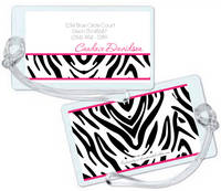 Hot Pink Zebra Luggage Tag