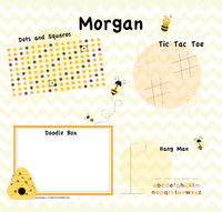 Bumble Bee Games Writing Board