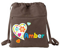 I Heart Camp Drawstring Bag