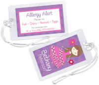 Flower Princess Allergy Alert Tag