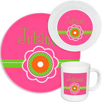 Dotted Flowers Melamine Set