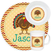 Adorable Turkey Melamine Set