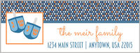Blue Dots Dreidels Address Labels
