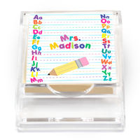 Alphabet Sticky Note Holder