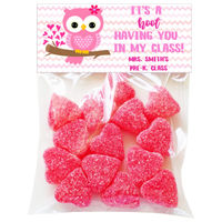 A Hoot Valentine Candy Bag Toppers