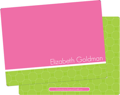 Fuchsia Lime Dots Note Card