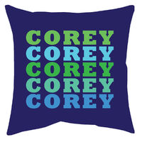 Name in Brights Boy Accent Pillow