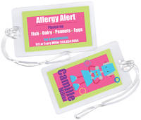 Robot Gal Allergy Alert Tag