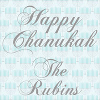 Blue Menorahs Gift Stickers