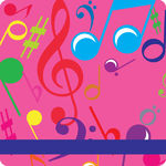 Bright Notes Fuchsia Calling Card