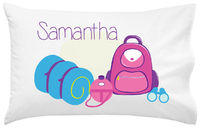 Camp Supplies Girl Pillowcase