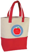 Just an Apple Teacher Tote