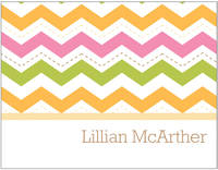 Colorful Chevron Foldover Card