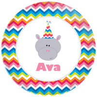 Birthday Hippo Plate