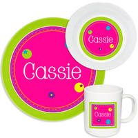 Bubbly Bubbles Melamine Set