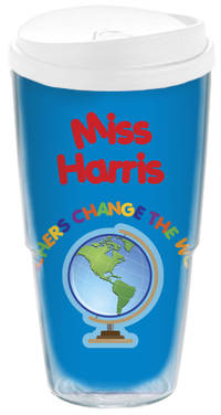 Teachers Change the World Acrylic Travel Cup