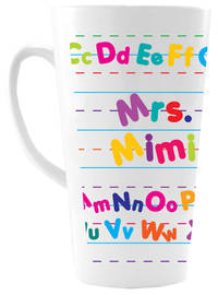 Alphabet Ceramic Coffee Mug