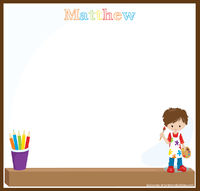Young Artist Boy Art Writing Board