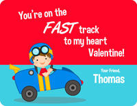 Race Car Valentine's Card