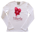 Heart & Flower Embroidered & Applique Shirt T201