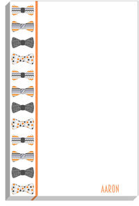 Fall Bow Tie Notepad